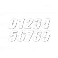 Ringmaster MX Senior Race Numbers White 4Pack