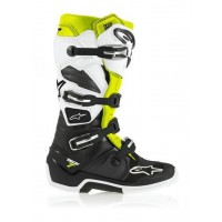 Alpinestars Tech 7 Adult Boots Black / White / Fluo Yellow - Size 12