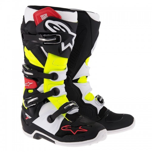 Alpinestars Tech 7 Adult Boots Black / Red / Yellow