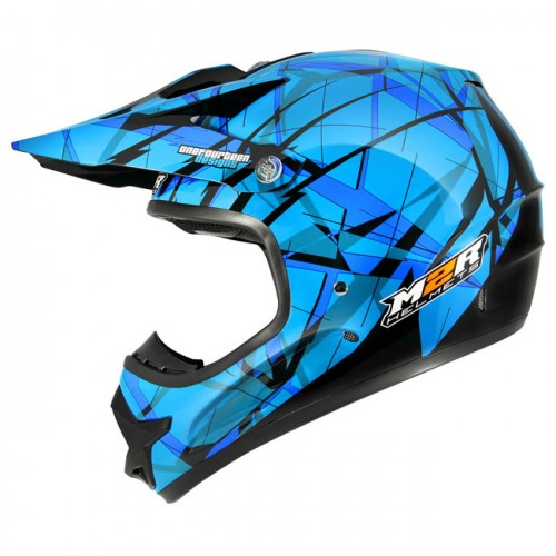 M2R X2.6 Linear Blue PC-2 Helmet