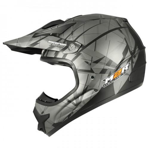 M2R X2.6 Linear Matt Black PC-5F Helmet