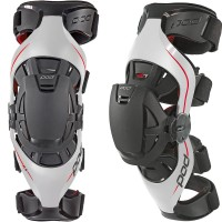 Pod K4 Grey / Red Knee Brace Set