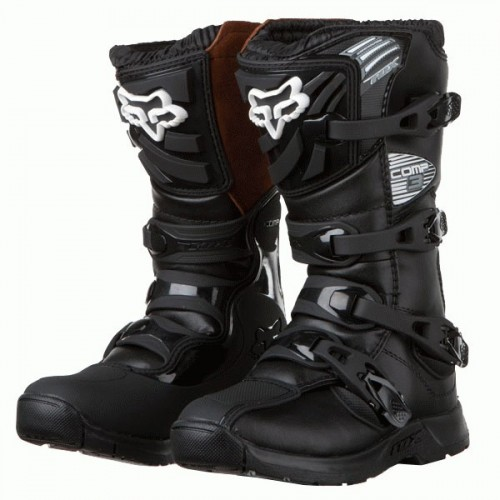 Fox Youth Comp 3 Black Boots