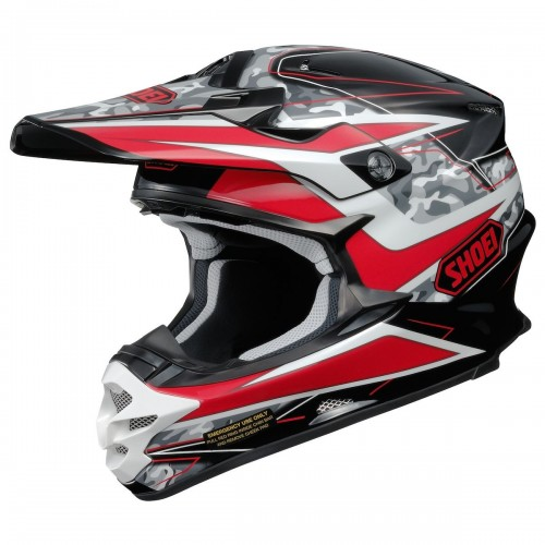 Shoei VFX-W Offroad Helmet - Turmoil Red TC-1 2017