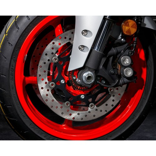 320mm Dual Front Discs with ABS