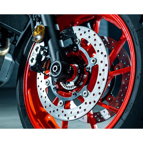 Larger front brakes